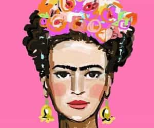 Frida, illustration, and kahlo image