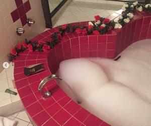 aesthetic, bathtub, and heart shaped image