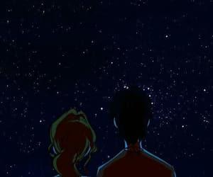 stars, couple, and gif image