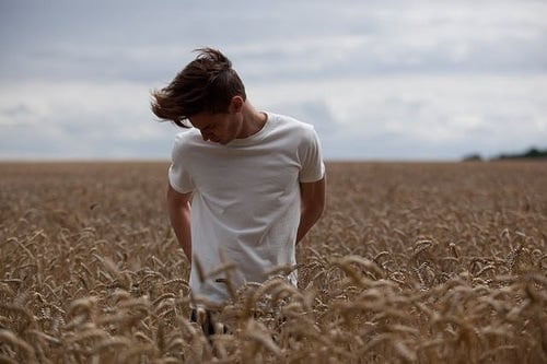 boy, field, and guy image
