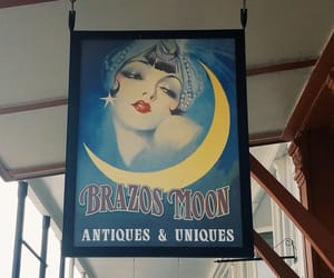 1920s, makeup, and moon image