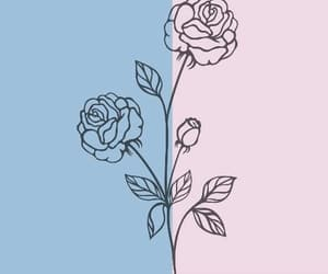header, blue, and flowers image