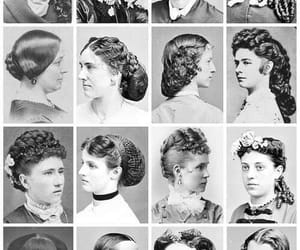 blanck and white, old, and hairstyle image