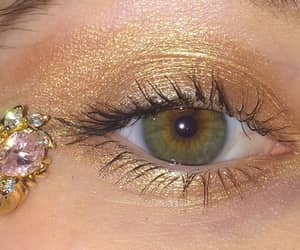 eye, eyes, and makeup image
