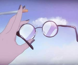 anime, aesthetic, and glasses image