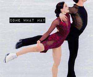 couple, figure skating, and ice image