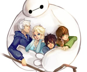 jack frost, baymax, and frozen image