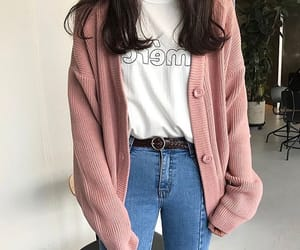 fashion, korean, and pink image