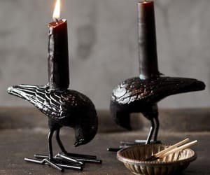 candle holder, witch, and candles image