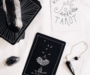 cards, goth, and moon image