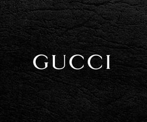 background, black and white, and gucci image