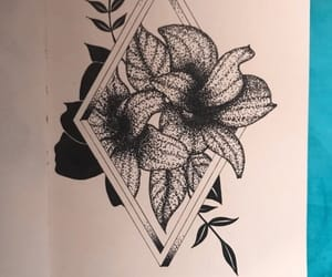 black and white, line drawing, and triangle image