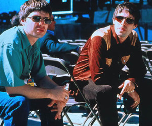 liam gallagher, gallagher brothers, and noel gallagher image