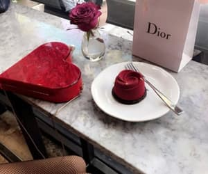 cake, dior, and pastry image