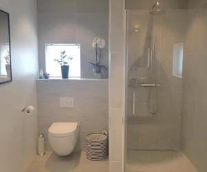 bathroom, Blanc, and grey image