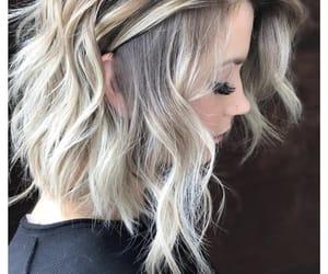 platinum and medium length hair image