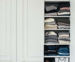 closet, folding, and wardrobe image
