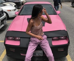 pink, car, and fashion image