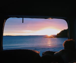 sunset, sea, and summer image