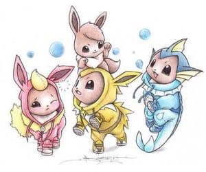pokemon, drawing, and eevee image