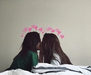 couple, gay, and girls image