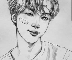 jin, bts, and fanart image