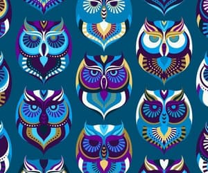 background, owl, and pattern image