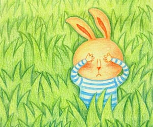 animal, grass, and rabbit image