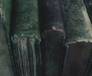 aesthetic, books, and green image