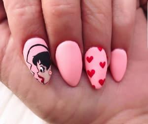 hearts, nail art, and nail polish image