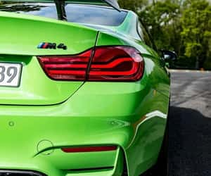 bmw, green, and sports car image
