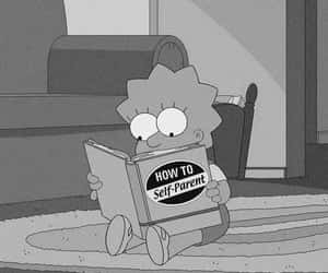 book, lisa, and simpsons image