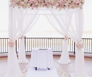bride, ceremony, and decoration image