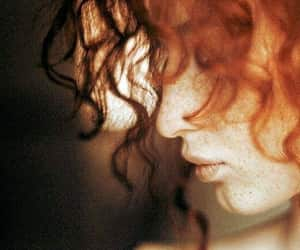 redhead, red hair, and freckles image