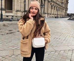 beige, winter, and fashion image