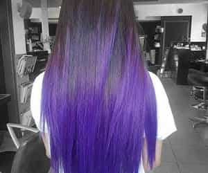 hair, purple, and straight image