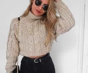 fall, sweater, and fashion image