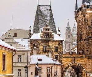 winter, snow, and prague image