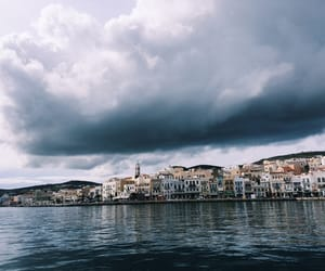 clouds, Greece, and Island image