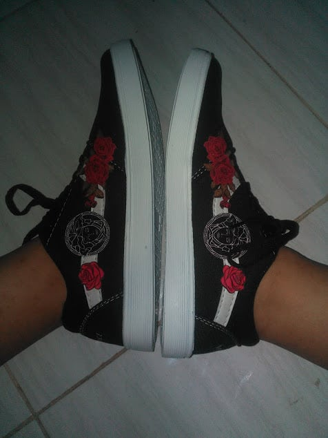 aesthetic, sneakers, and roses image