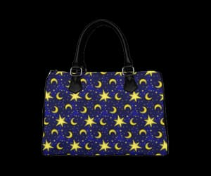 bag, moons, and purse image