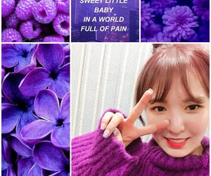 aesthetic, Collage, and purple image