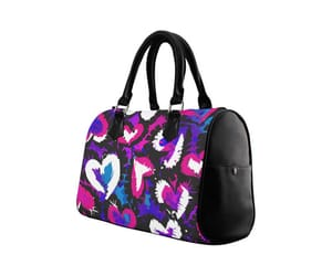 hearts, painted, and purse image