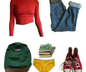 backpack, converse, and books image