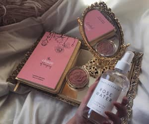 pink, cosmetic, and mirror image