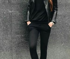 black, black clothes, and girl image