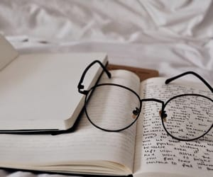 journal, article, and glasses image