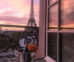 paris, sunset, and champagne image
