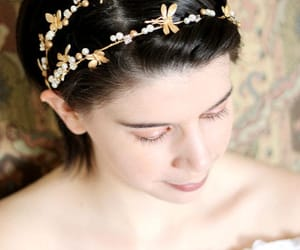 accessories, gold crown, and gold headband image