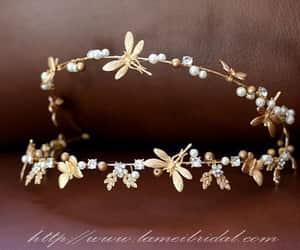 etsy, weddings, and bridal tiara image